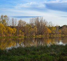Fall Reflection in Water by heartlandphoto