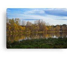 Fall Reflection in Water Canvas Print