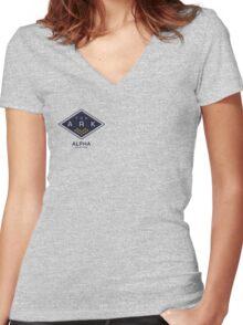 The Ark - Alpha Station Women's Fitted V-Neck T-Shirt