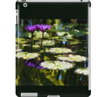 Waterlilies - Sunny Green and Purple Impressions iPad Case/Skin