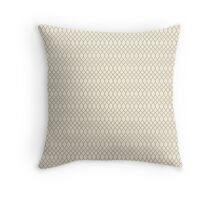 Grey Chain Link Fence Pattern Throw Pillow