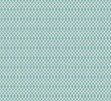 Teal Chain Link Fence Pattern by Hilda Rytteke