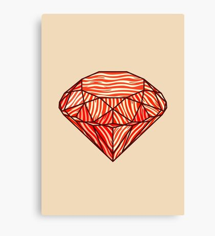 Bacon diamond Canvas Print