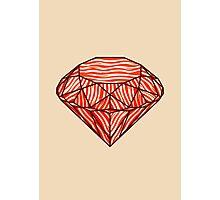 Bacon diamond Photographic Print