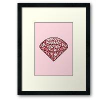 Brain diamond Framed Print