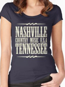 Nashville  Tennessee Country Music Women's Fitted Scoop T-Shirt