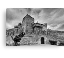 Castle of Fenis, Front View - Italy Canvas Print