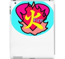 Japanese Character Fire iPad Case/Skin
