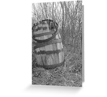 barrel in brush Greeting Card