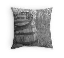 barrel in brush Throw Pillow