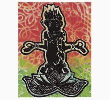 Meditating Monkey with Spray Kids Tee