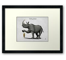 Cork it, Durer! Framed Print