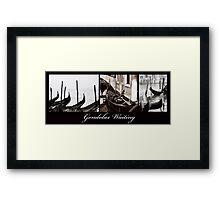 Gondolas Waiting Framed Print