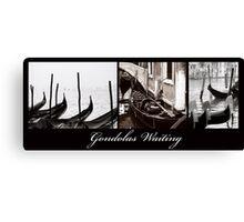 Gondolas Waiting Canvas Print