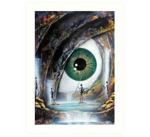 Reptile eye Art Print