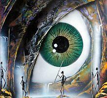 Reptile eye by Angel Ortiz