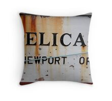 The Pelican - Newport, Oregon Throw Pillow