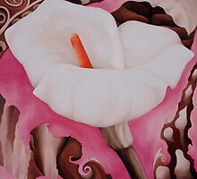 White Calla Lily by Kim Bender