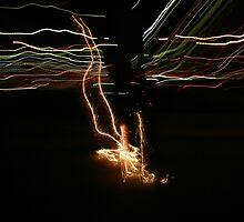 skate streaks  by Leon Cole