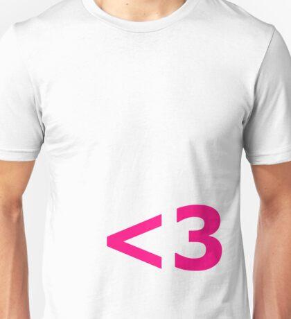 <3 Unisex T-Shirt