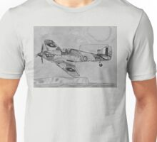Hurricane above the cliffs of Dover Unisex T-Shirt