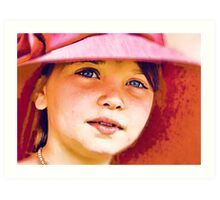 Girl in a Red Hat Art Print