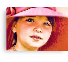 Girl in a Red Hat Canvas Print