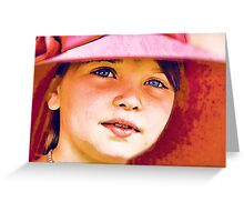 Girl in a Red Hat Greeting Card