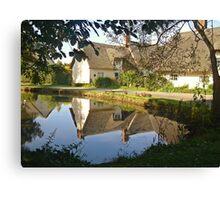 Cottages At Wennington  Canvas Print