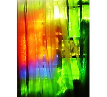 Stained Glass Silk Photographic Print