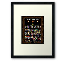 It's Dangerous To Go Alone, Take All of This! Framed Print