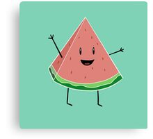 Walter Melon - Cute Salad Canvas Print