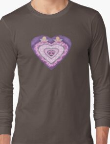 Cupids with Hearts and Roses Long Sleeve T-Shirt
