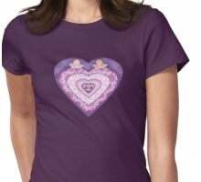 Cupids with Hearts and Roses Womens Fitted T-Shirt