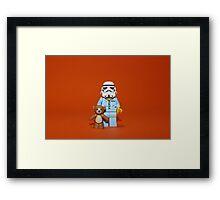 Sleepy Stormtrooper Framed Print