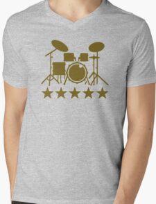 Drums stars Mens V-Neck T-Shirt
