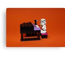 Stormtrooper plays piano Canvas Print