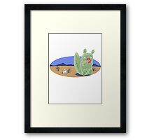 Squirrel Cactus  Framed Print