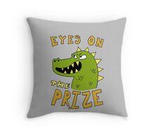 Eyes on the prize dinosaur Throw Pillow