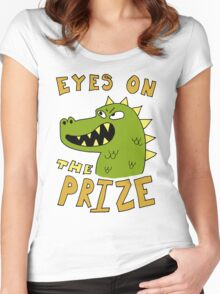Eyes on the prize dinosaur Women's Fitted Scoop T-Shirt