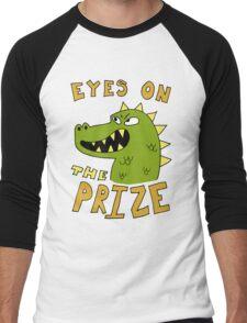 Eyes on the prize dinosaur Men's Baseball ¾ T-Shirt
