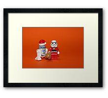 Stormtrooper Santa Framed Print