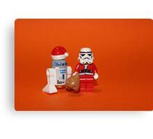 Stormtrooper Santa Canvas Print