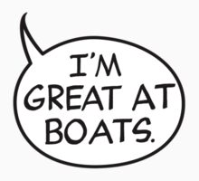 I'm Great at Boats Kids Clothes