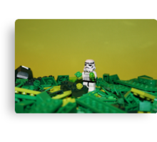 Green Stormtrooper Canvas Print