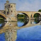Morning by Pont d' Avignon by TerrillWelch