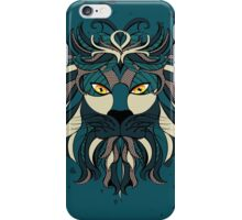 Stylized Lion Head iPhone Case/Skin