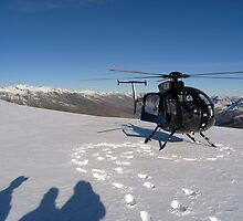 Helicopter Heaven - Queenstown Alps, New Zealand by Deanna Roberts Think in Pictures
