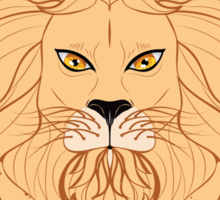 Stylized Lion Head 3 Sticker