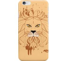 Stylized Lion Head 3 iPhone Case/Skin